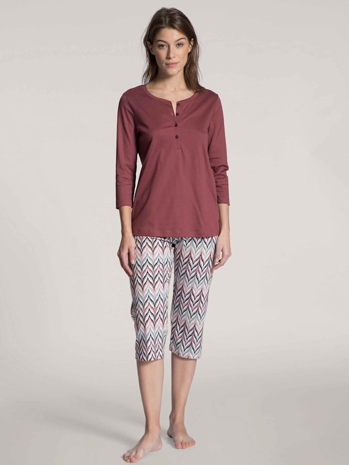 Calida 3/4-Pyjama Ökotex zertifiziert, feminine rose