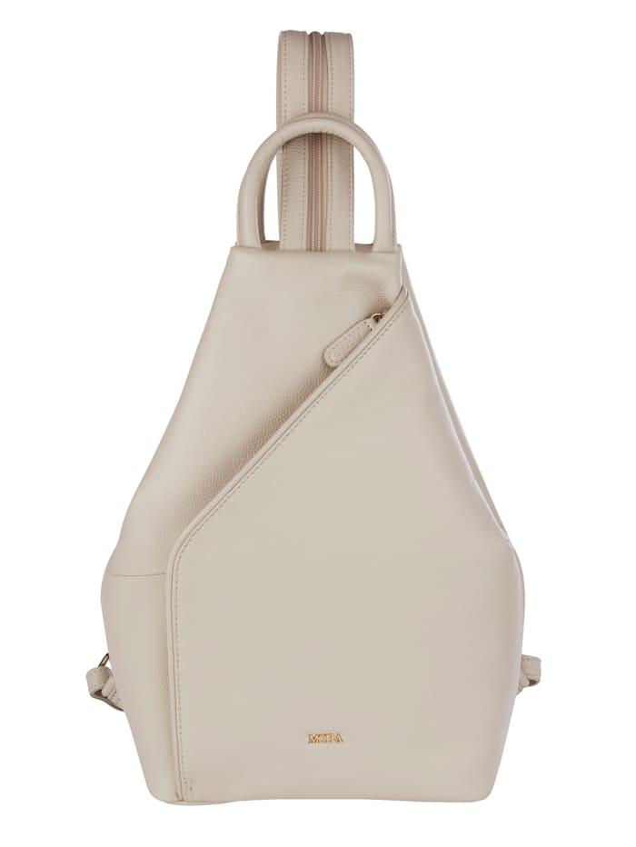 MONA Rucksack aus hochwertigem Rindsnappaleder, creme