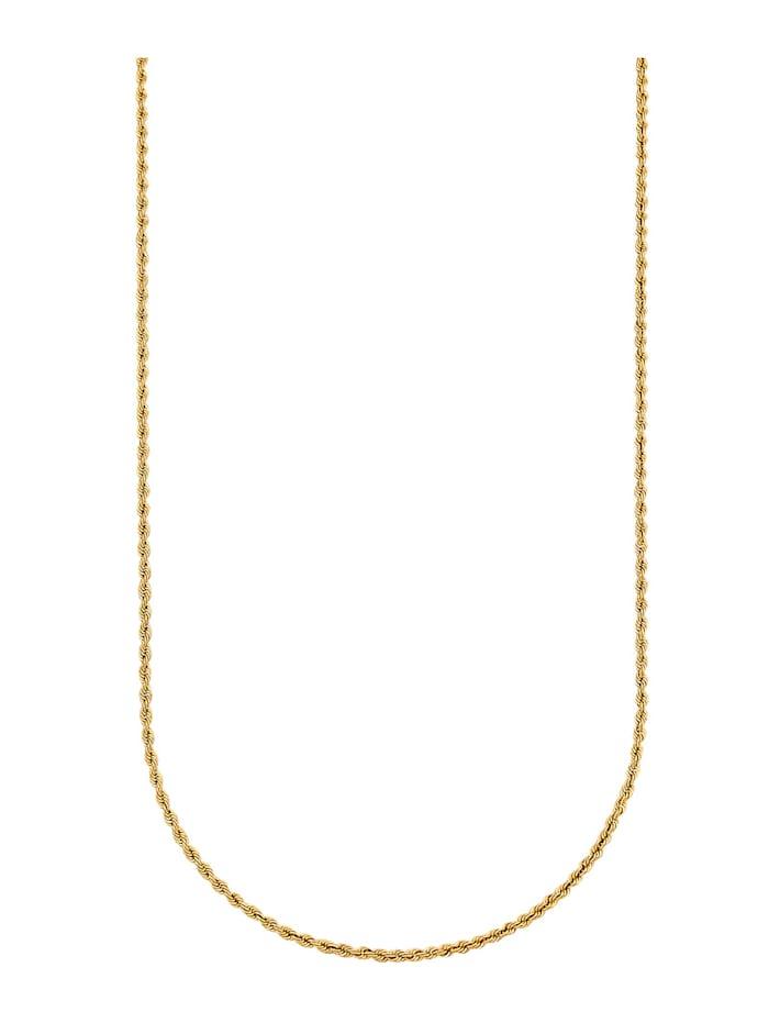 Collier maille cordon en or jaune 375, Coloris or jaune