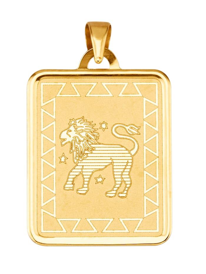Sternzeichen-Anhänger Löwe in Gelbgold 375, Gelbgoldfarben