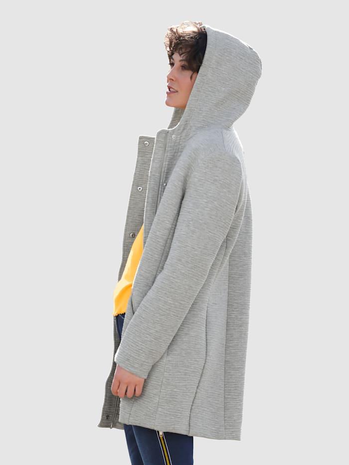 Veste longue en jersey en matière structurée