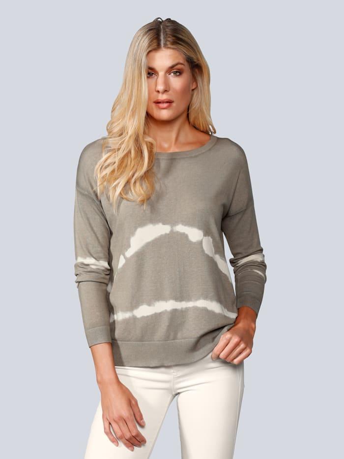 BRAX Pullover im Batik-Look, Oliv
