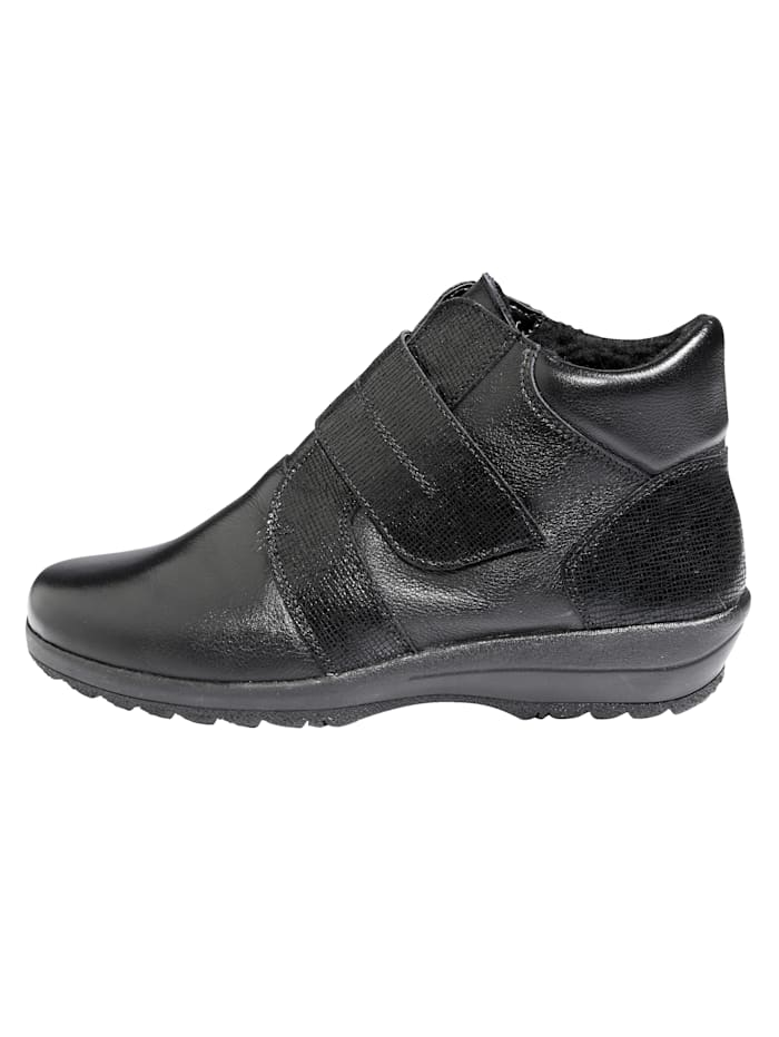 Ankle boots made from supple leather