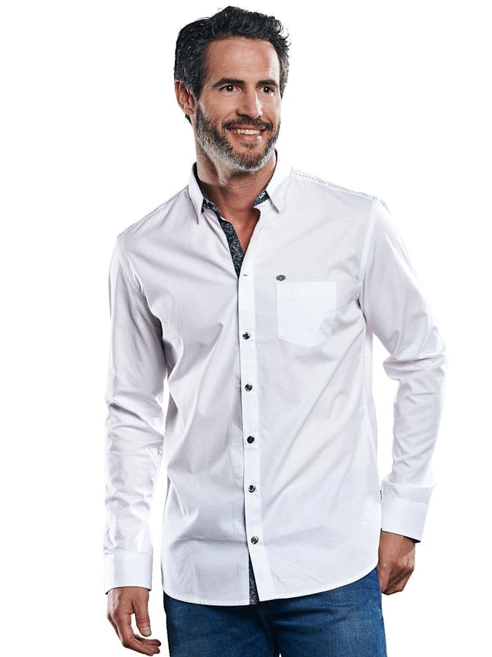 Engbers Hochwertiges Baumwollhemd, Reinweiss