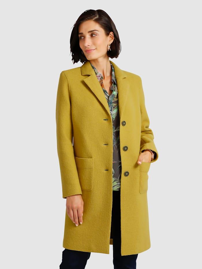 Manteau court en pure laine