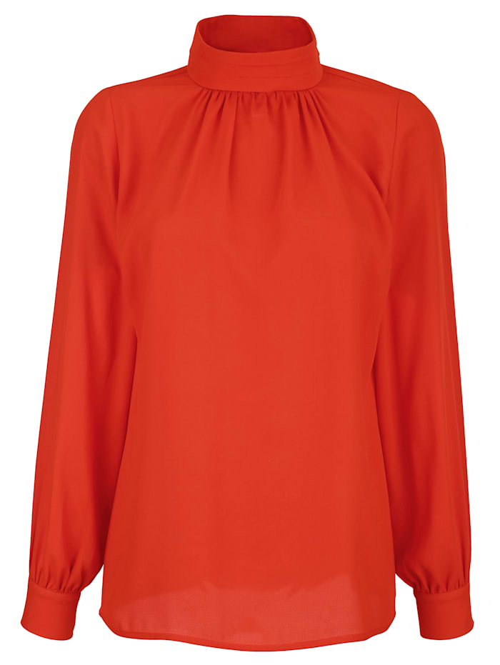 AMY VERMONT Bluse mit Stehkragen, Orange
