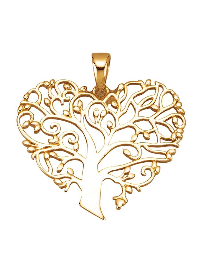 Diemer Gold Lebensbaum-Anhänger in Gelbgold 585, Gelbgoldfarben