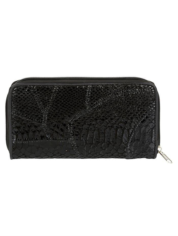 Lommebok med klassisk slangepreg