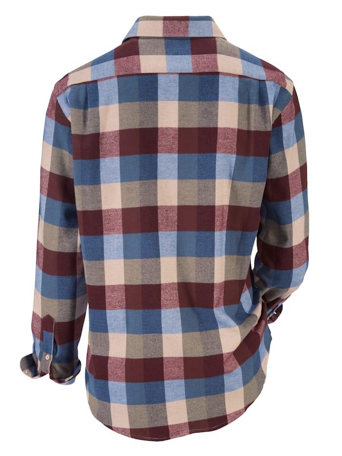 Flanellhemd in winterlichen Farben