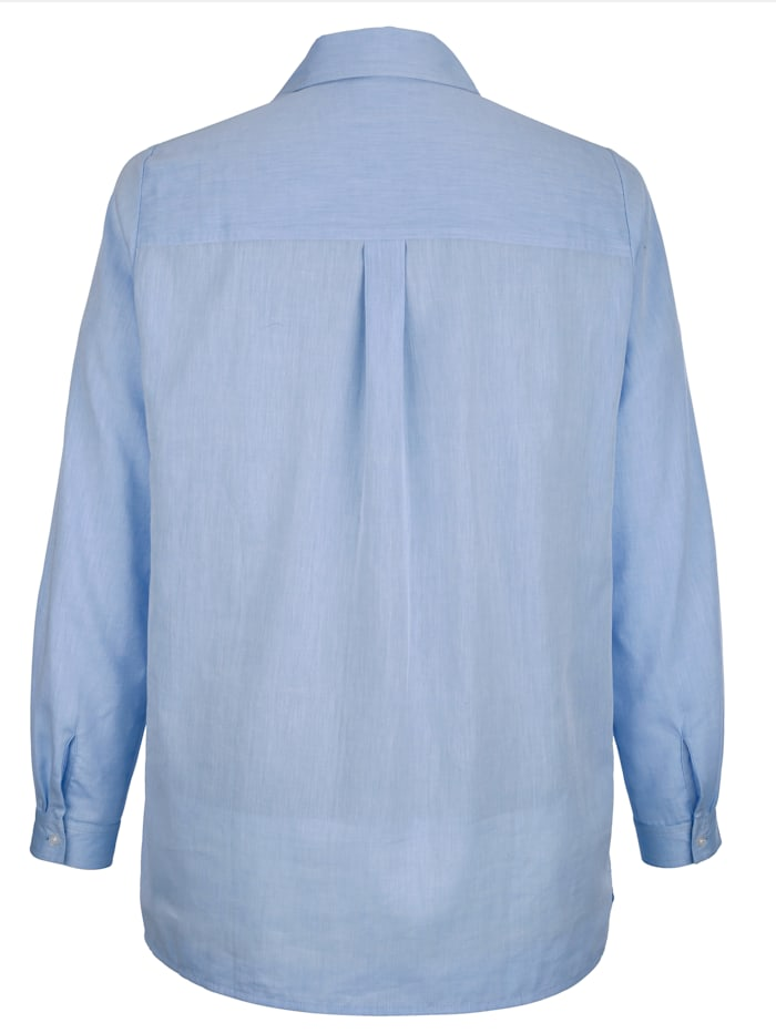 Bluse mit Seitenschlitzen