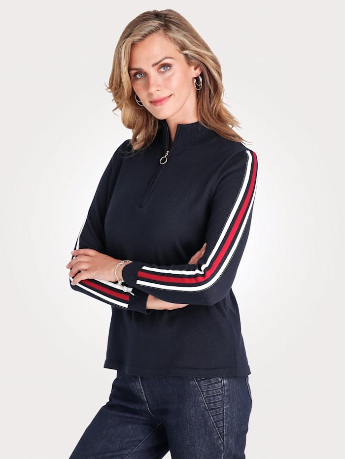 Pullover mit Streifen in Kontrastfarben