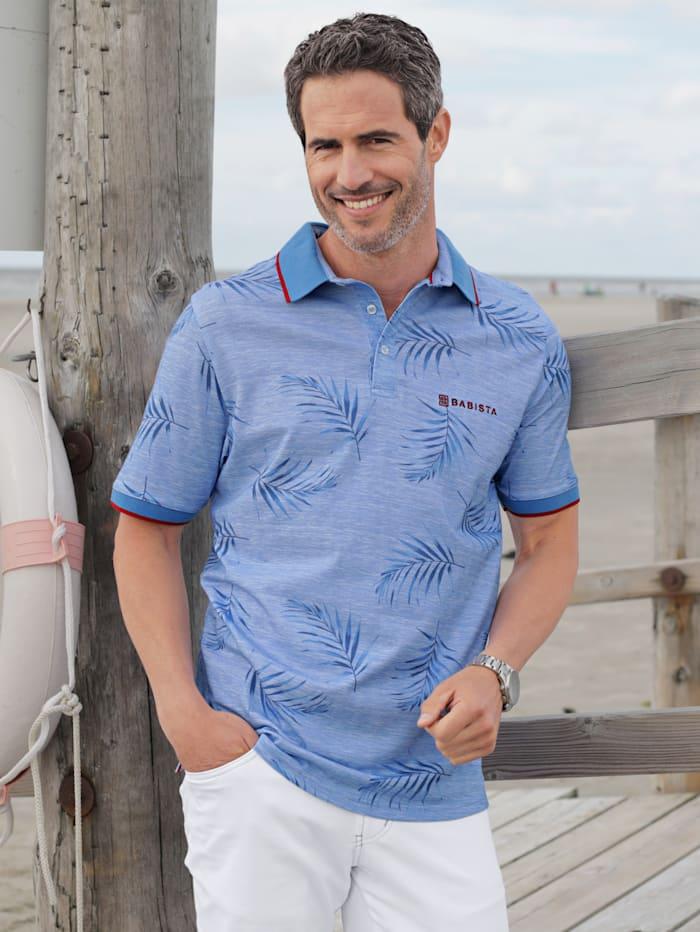 BABISTA Poloshirt met bloemenprint, Blauw