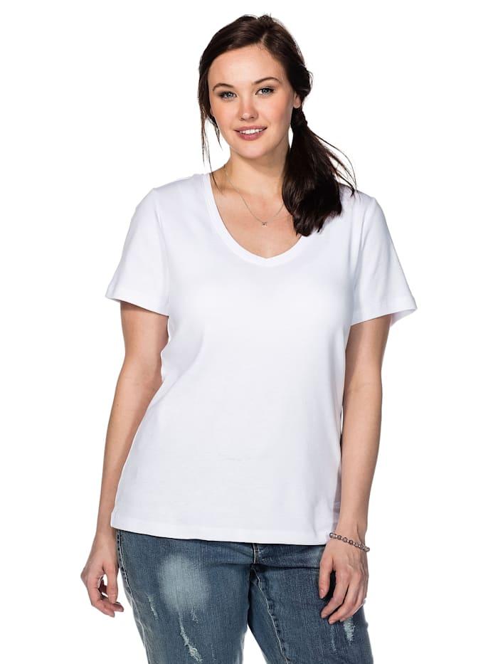 Sheego Sheego T-Shirt, weiß