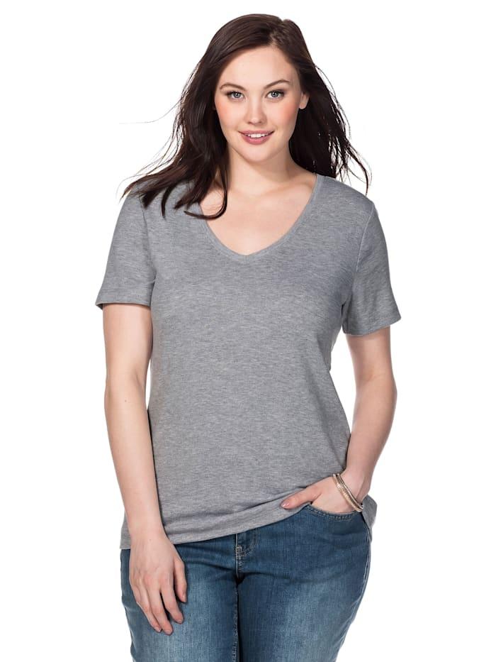 Sheego Sheego T-Shirt, grau meliert