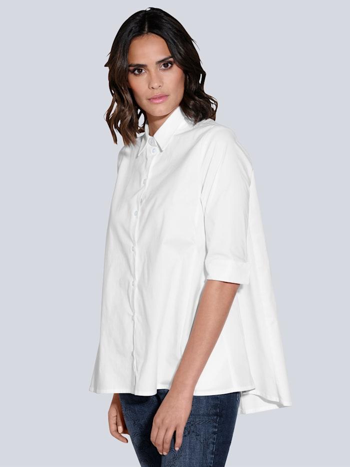 Alba Moda Bluse in ausgestellter Form, Weiß