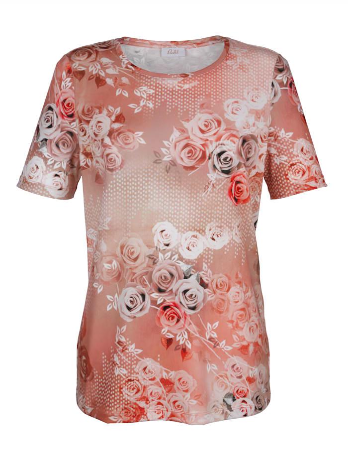 Shirt met rozenprint