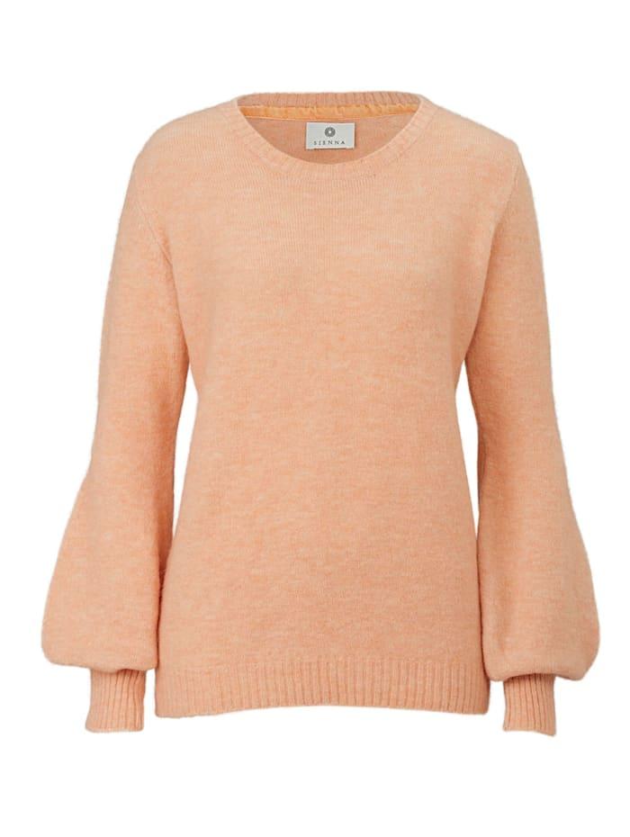 SIENNA Pullover mit trendigem Keulenärmel, Pfirsich