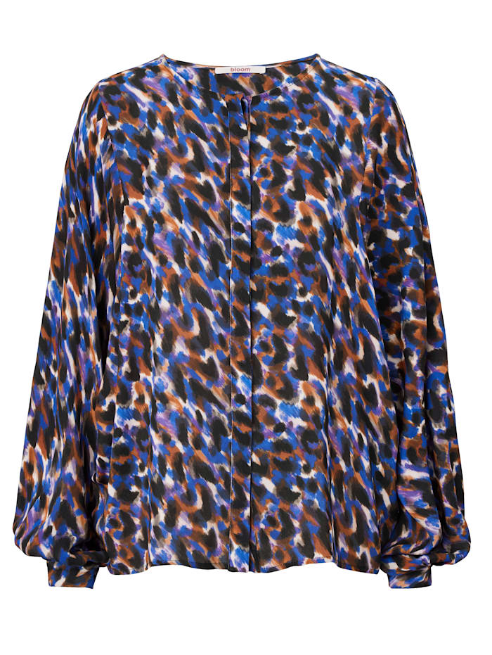 Bloom Bluse, Dunkelblau