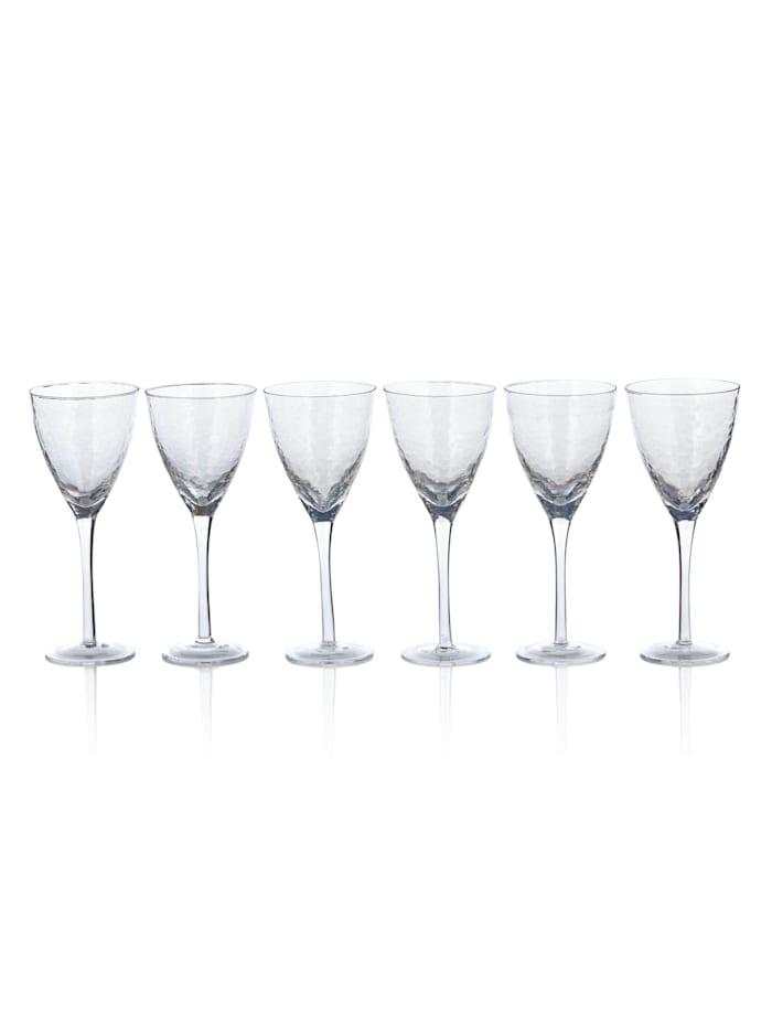 IMPRESSIONEN living Weißweinglas-Set, 6-ltg., transparent, Perlmutt-Schimmer