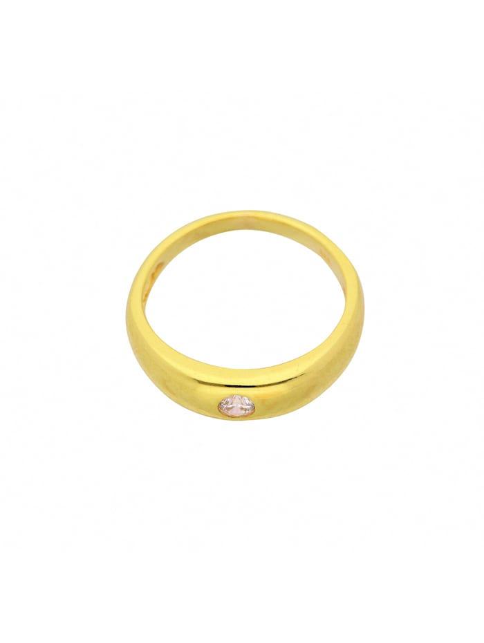 1001 Diamonds Damen Goldschmuck 333 Gold Anhänger Taufring mit Zirkonia Ø 11,2 mm, gold