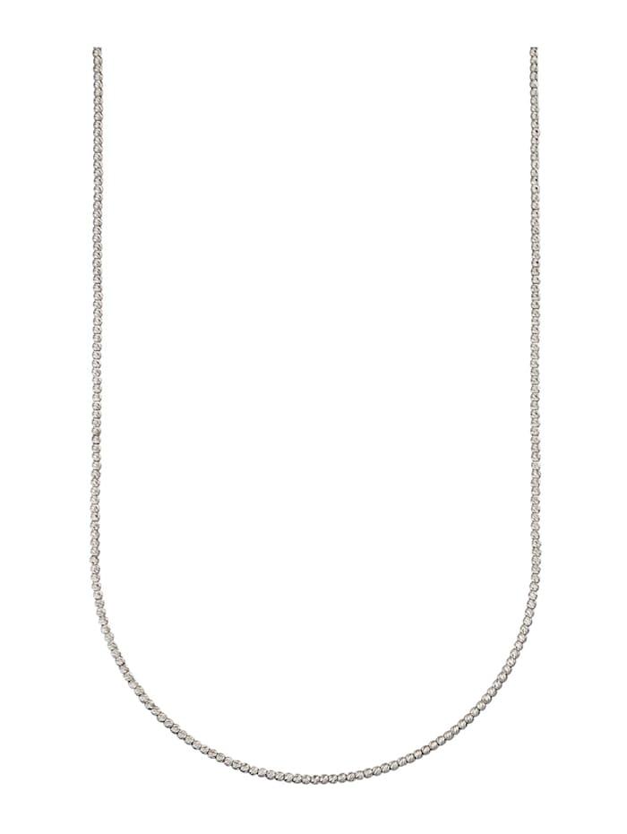 Halskette in Weißgold 585, Weißgoldfarben