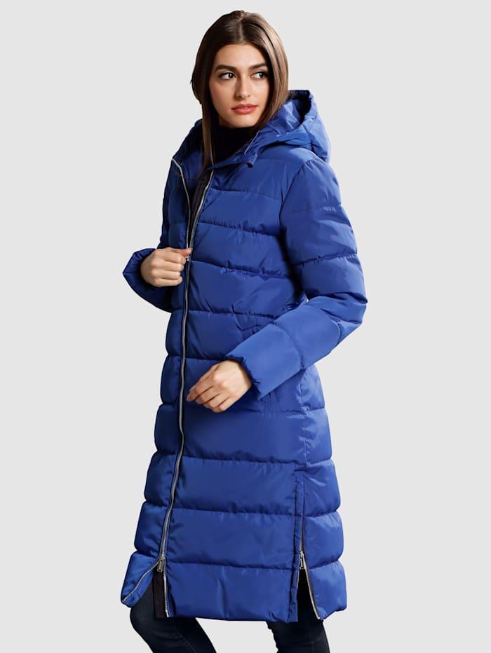 Alba Moda Manteau à glissières côtés, Bleu