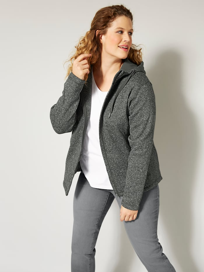 Fleece vest met capuchon