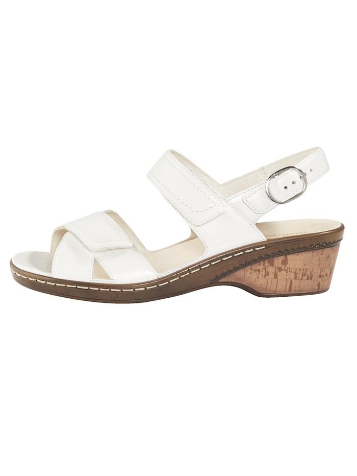 Sandale mit verstellbarer Fersenbandage