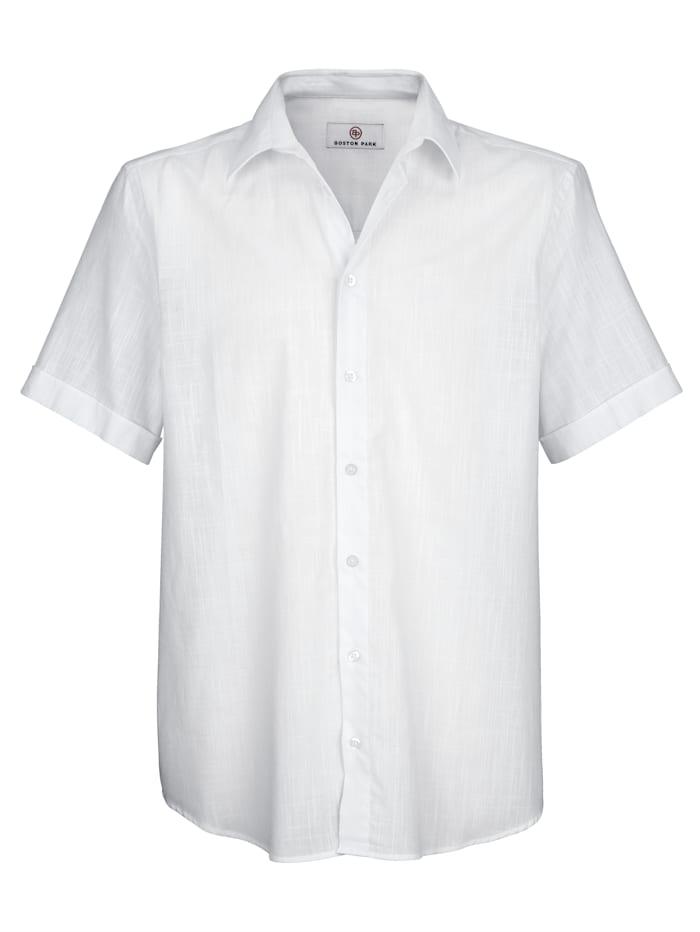 Hemd in Leinenoptik