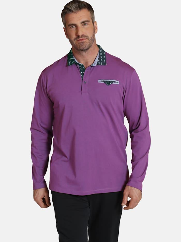 Charles Colby Langarm-Poloshirt EARL WYETT, pink