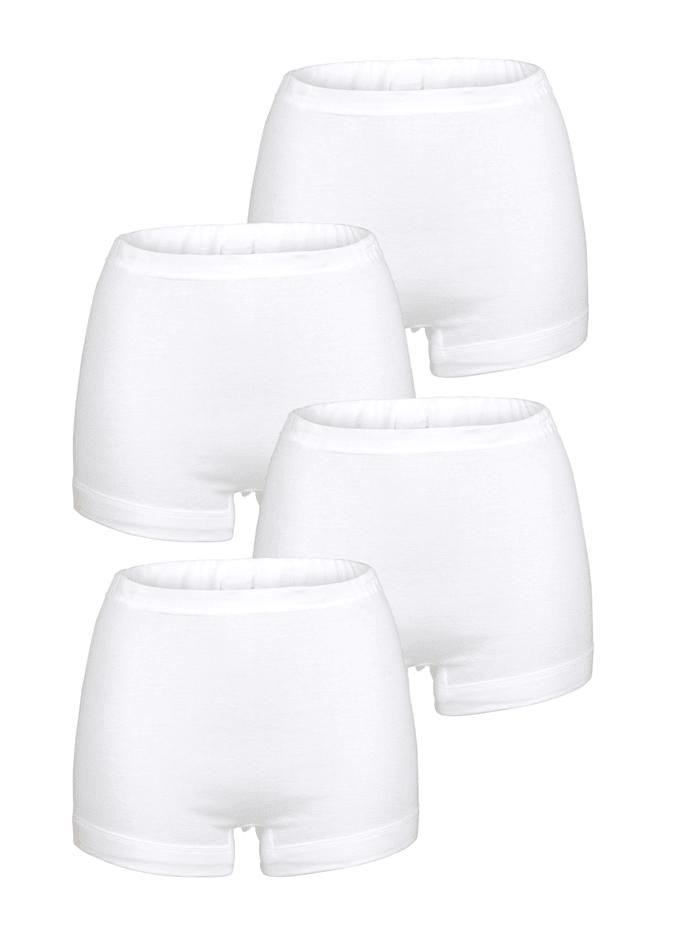 Viania Schlüpfer im 4er-Pack mit kurzem Bein, Weiß