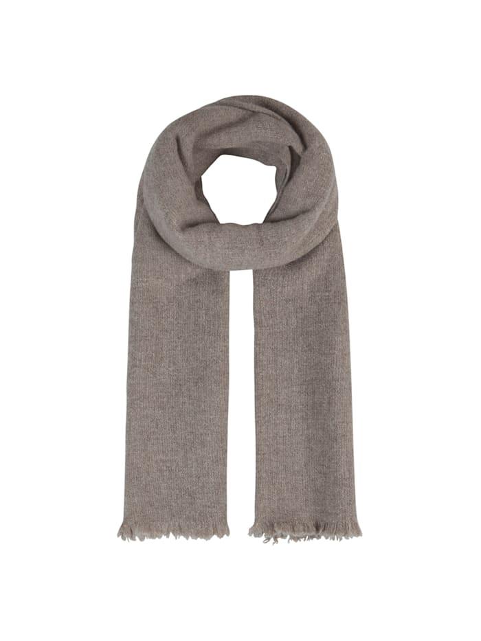 Codello XL-Strickschal aus warmer Wolle, taupe