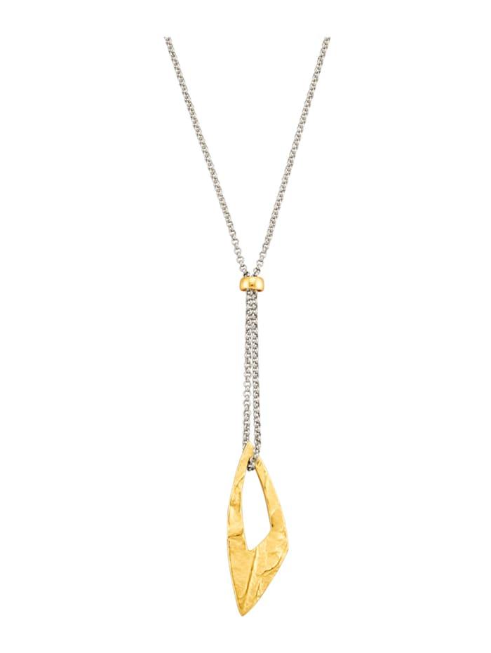 Diemer Trend Y-vormig collier van echt zilver, Geelgoudkleur