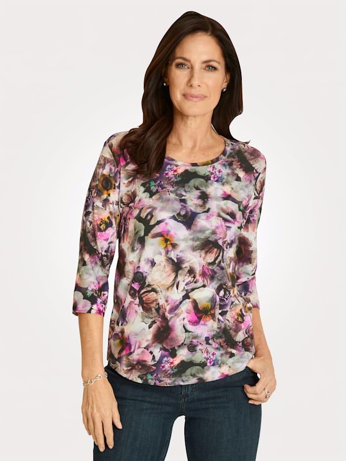 Rabe Shirt met print rondom, Berry/Pink
