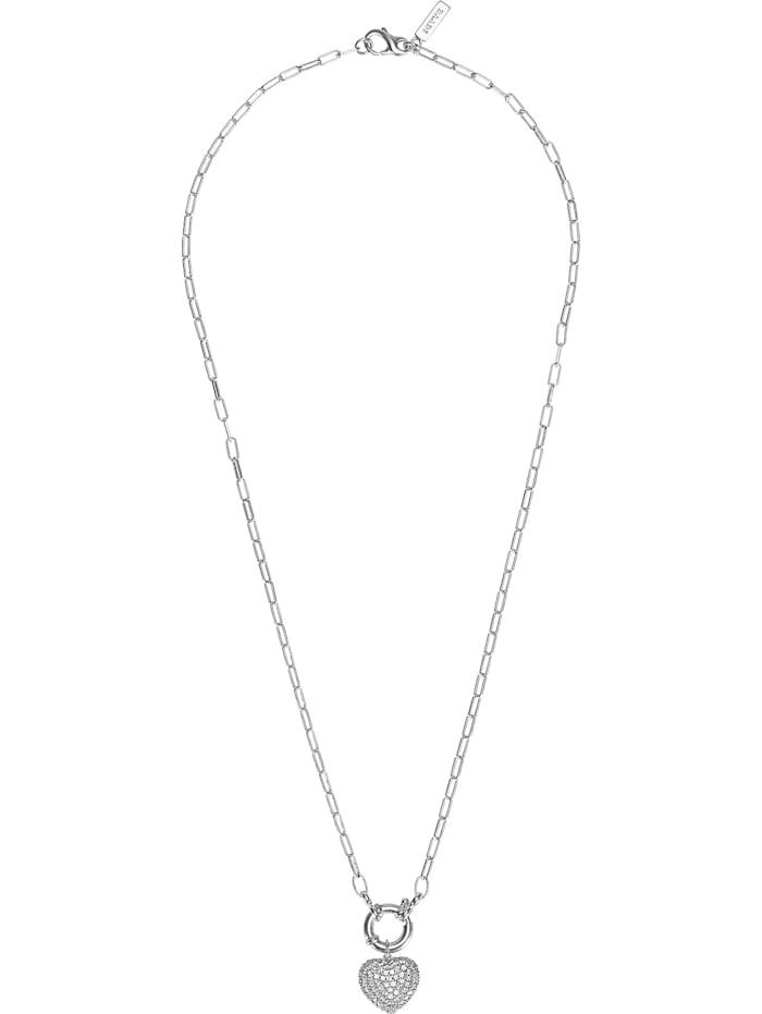 Jette JETTE Damen-Kette 925er Silber 86 Zirkonia, silber