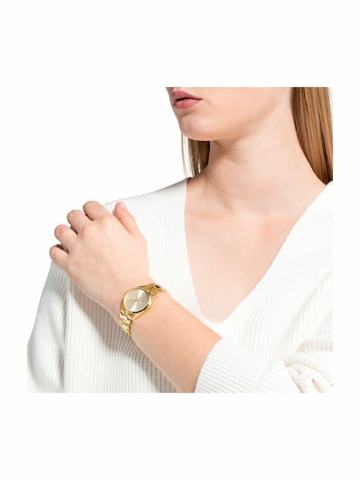 Quarzuhr für Damen, Edelstahl IP Gold
