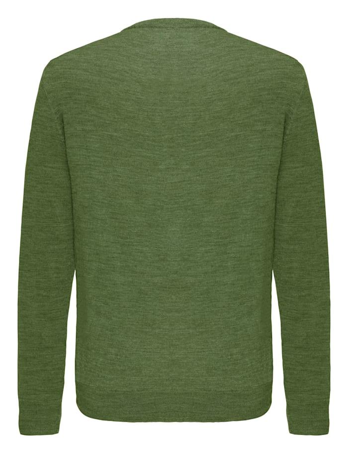 Feinstrick Pullover aus Wolle