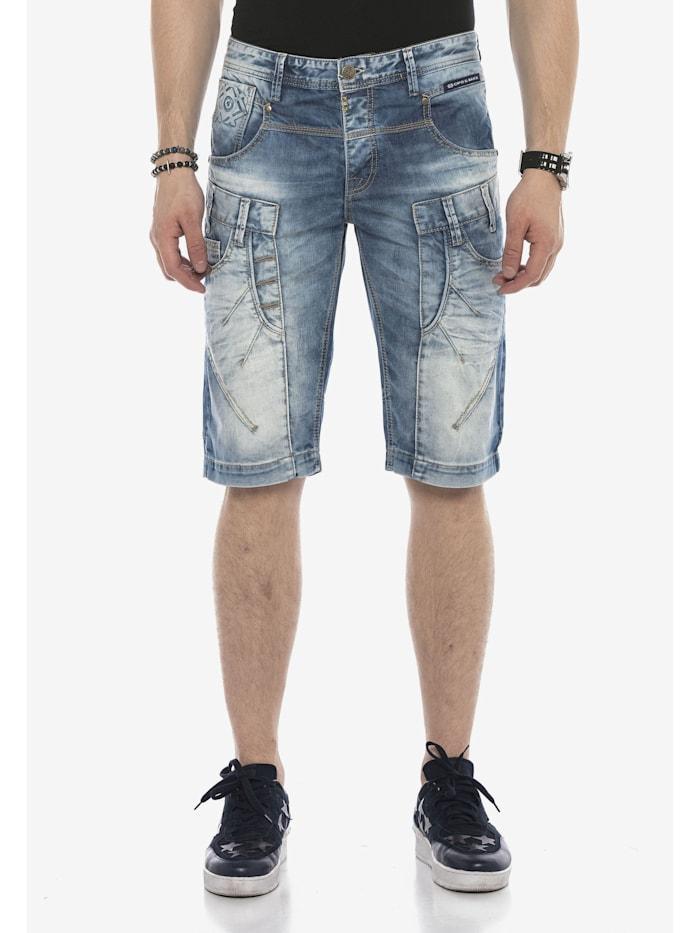 Cipo & Baxx Shorts in sportlichem Design, Blue
