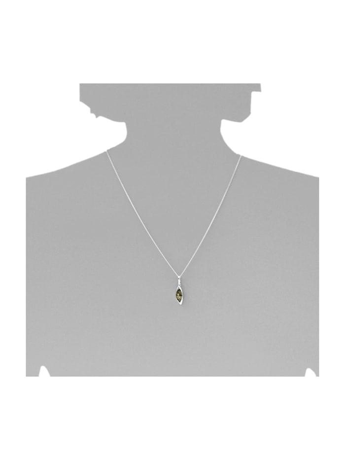 Anhänger - Tonje - Silber 925/000 - Bernstein