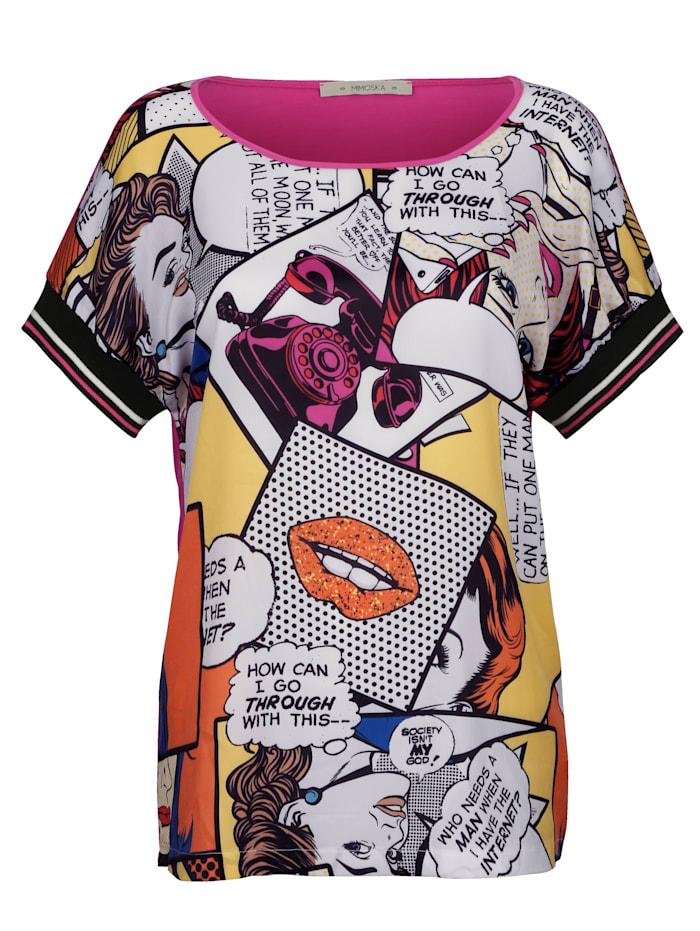 Shirt met comicprint