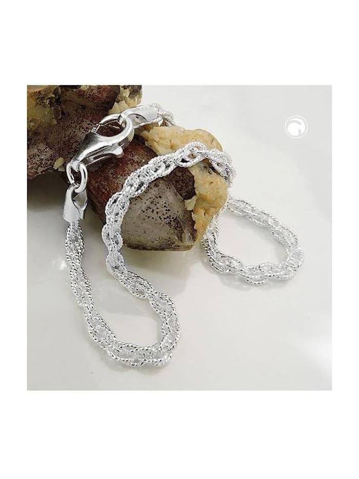 Gallay Schmuckgroßhandel Armband 3mm Doppelankerkette Silber 925 19cm, silber
