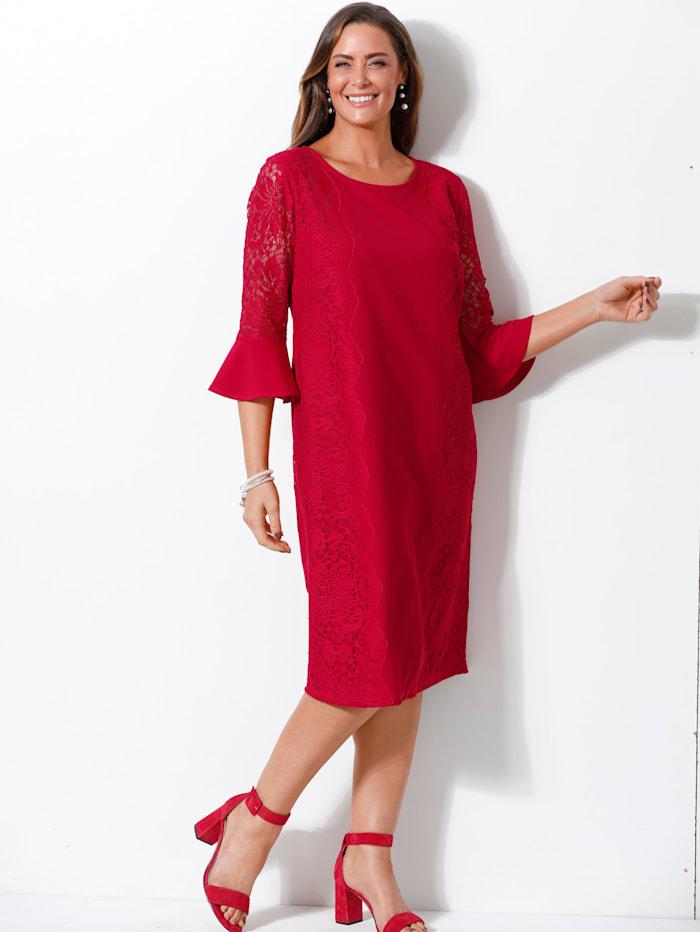 MIAMODA Spitzenkleid in eleganter Etuiform, Rot