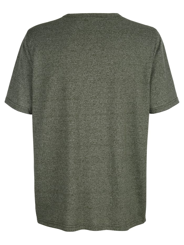 T-shirt met ronde hals en knoopsluiting