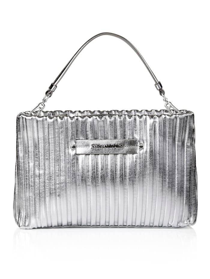 Karl Lagerfeld Handtasche, silberfarben