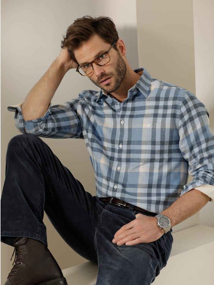 Babista Premium Flanellhemd mit wärmender Wolle, Blau