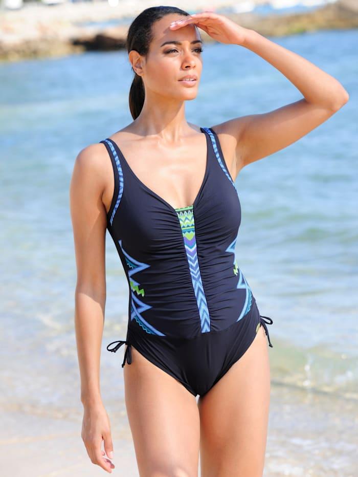 Sunflair Badeanzug mit Raffung, Blau