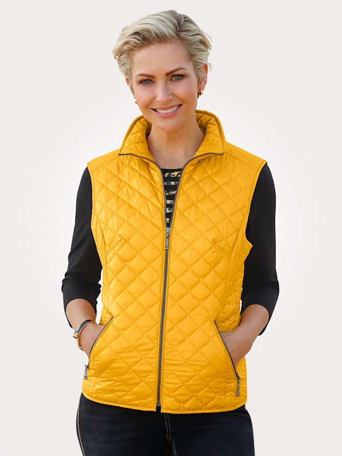 Barbara Lebek Quilted Gilet, Yellow