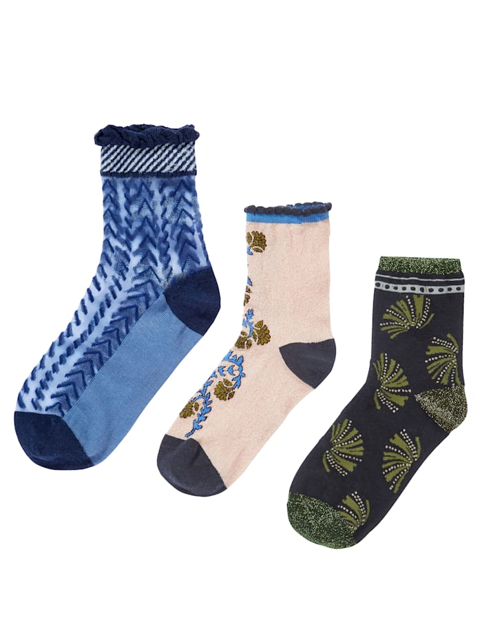 Unmade Copenhagen Socken-Set, 3-tlg., Multicolor