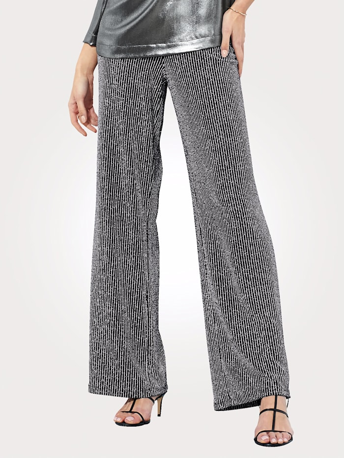 Trousers with a subtle shimmer