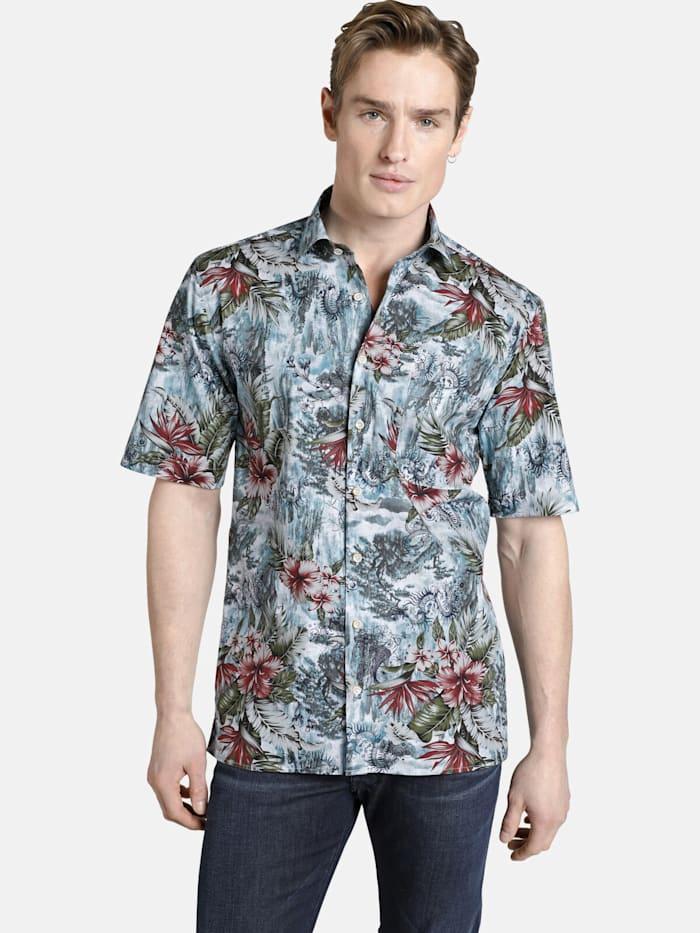 Shirtmaster Shirtmaster Kurzarmhemd allmydragons, gemustert